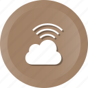 cloud, computing, network, wifi, wireless icon