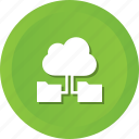 cloud, computing, data, folders, storage, with icon