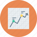 bar chart, bar graph, financial chart, graphic, statistics icon icon