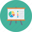 analytics, graph, presentation, training icon icon