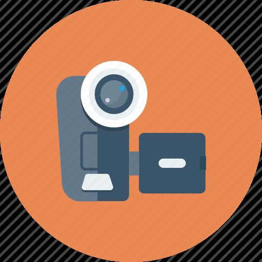 camera, device, film, movie, multimedia, recorder, video icon icon