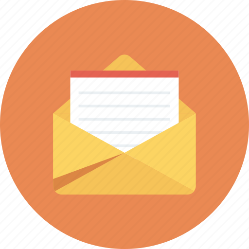 email, envelope, letter, mail, message, open icon icon
