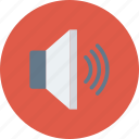 audio, device, loudspeaker, sound, speaker, up, volume icon icon