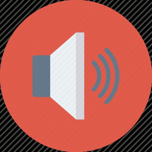 audio, device, loudspeaker, sound, speaker, up, volume icon icon