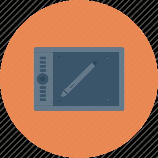 design, draw, pen, pen tablet, tablet, wacom icon icon