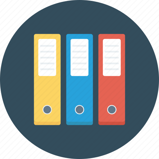 archive, colorful, documents, folders, office icon icon