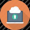 cloud, communication, computer, laptop, technology, upload