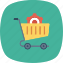 cart, gear, options, setting, shopping icon