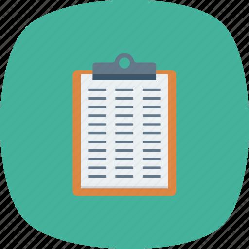Checklist, checkmark, clipboard, list, questionnaire, survey, tracklist icon - Download on Iconfinder