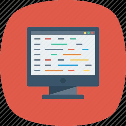 Code, coding, developer, development, editor, html, monitor icon - Download on Iconfinder