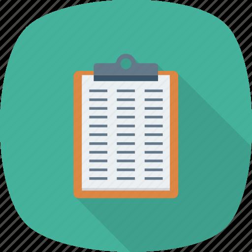Checklist, checkmark, list, clipboard, survey, questionnaire, tracklist icon