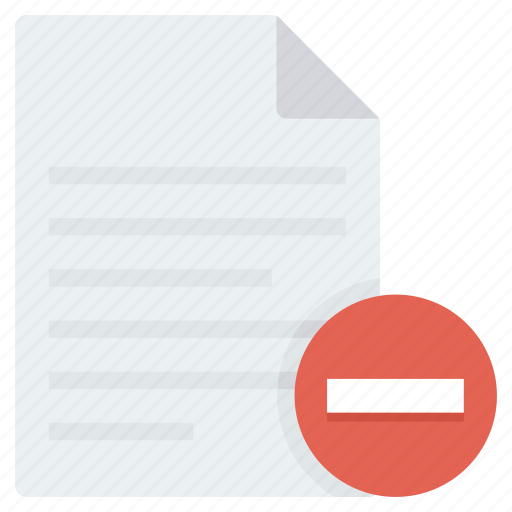 Cancel, delete, file, page, remove icon - Download on Iconfinder