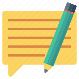 chat, comment, edit, speech icon