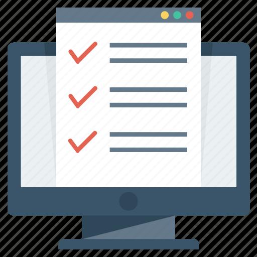 check, checking, list, monitor, testing icon