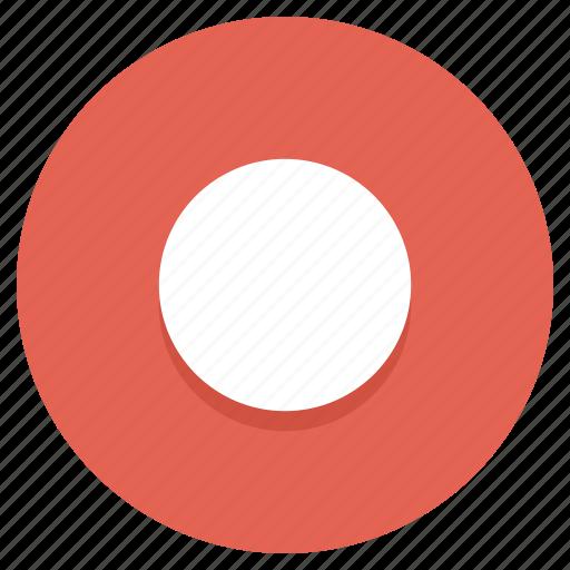circle, dot, rec, record icon