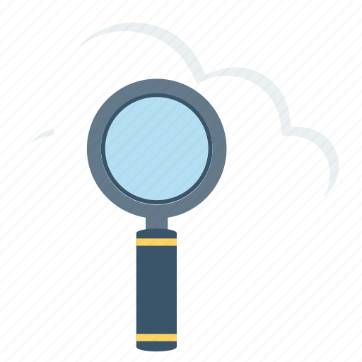 cloud, computing, explore, find, magnifier, search icon