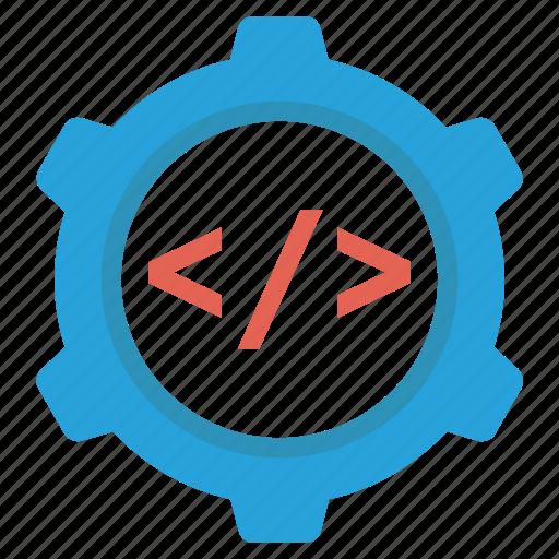 code, setting, settings, web, webpage icon