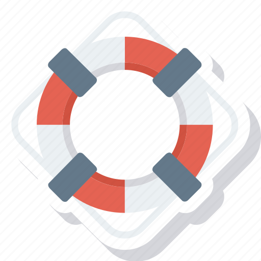 boat, help, lifebuoy, ocean, safe, sea, water icon