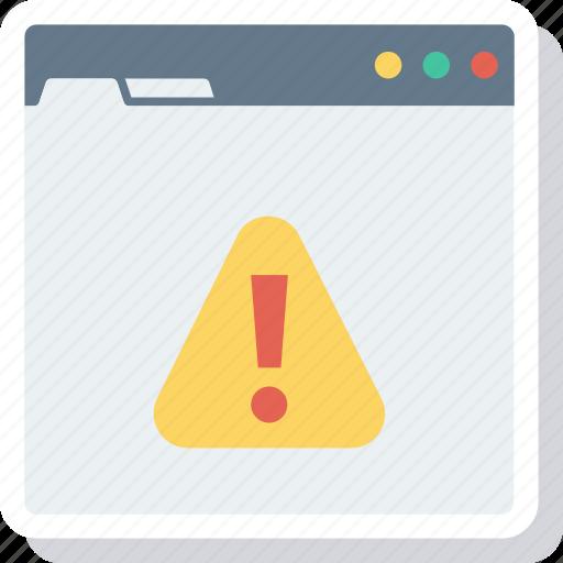 browser, error, internet, online, web icon