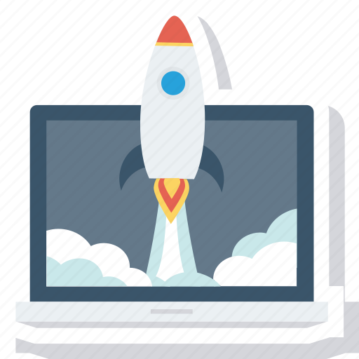 business, clouds, fast, launch, launching, marketing, rocket icon