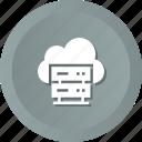 cloud, dedicated, hosting, server, servers, storage icon