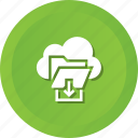 cloud, download, file, folder, storage icon