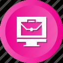 bag, case, computer, display, monitor, portfolio, suite icon