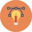 bulb, business, idea, light, marketing, money, solution icon icon
