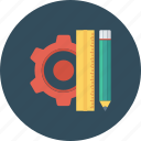 design, pencil, rule, streamline icon icon