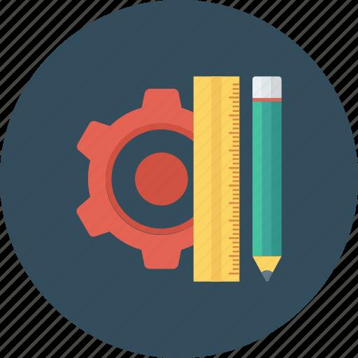 design, pencil, rule, streamline icon icon