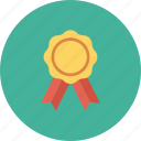 award, award badge, award ribbon, badge, star badge icon icon