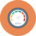 dashboard, gauge, measure, meter, performance, speed, speedometer icon icon