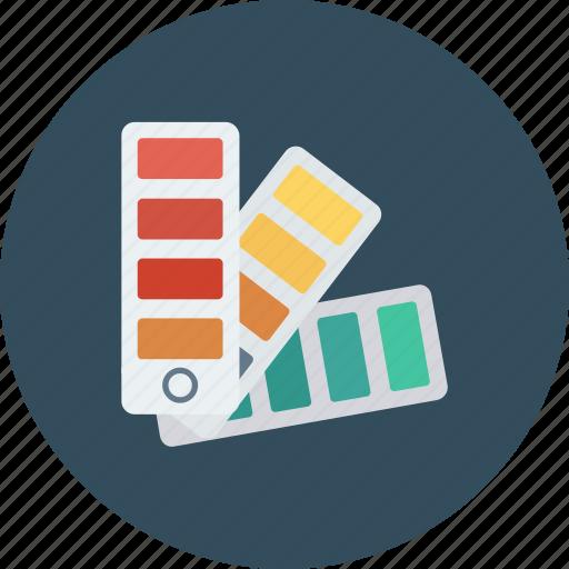 catalog, color guide, colorful, office, school icon icon