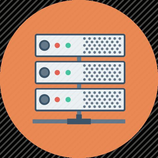 array, hosting, network, rack, server, storage, system icon icon