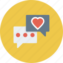 bubble, chat, feedback, message, support, talk icon icon