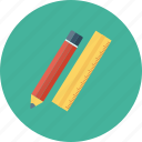 document, edit, pen, pencil, ruler, tool, write icon icon