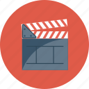 board, clapper, cut, director, making, movie, take icon icon