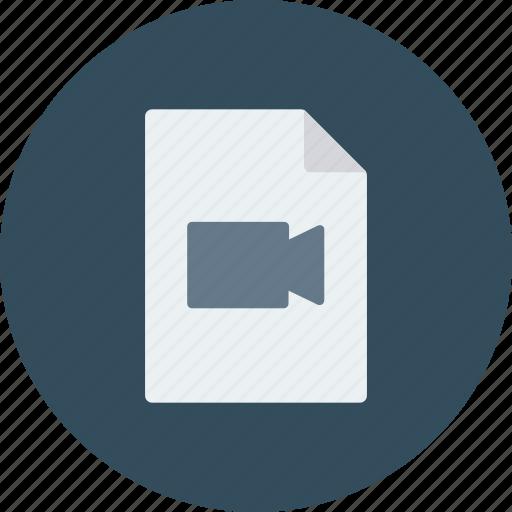document, file, file video, movie file, video, video file icon icon