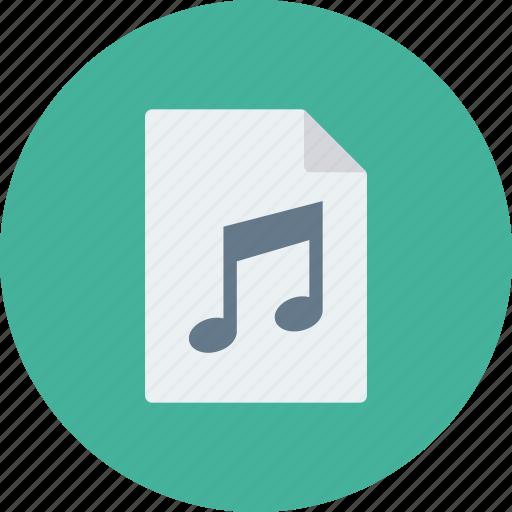 audio, document, file, mp3, music, music icon, sound icon icon