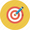 board, bullseye, dart, goal, idea, pencil, target icon icon