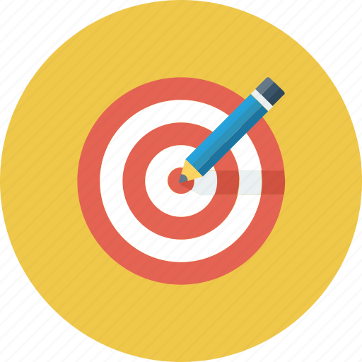 board, bullseye, dart, goal, idea, pencil, target icon icon