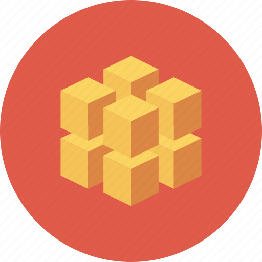 block, box, cube, data, database, registry icon