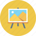 board, display, optimization, picture, seo, training icon icon