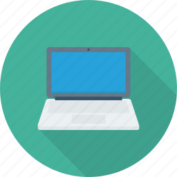 computer, laptop, notebook, screen, technology icon