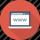 cyberspace, globe, internet, laptop, www