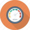 dashboard, gauge, measure, meter, performance, speed, speedometer