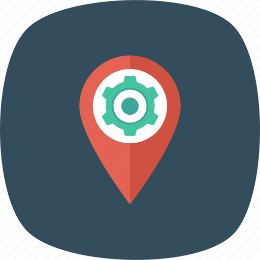 Cog, gps, location, map, pin icon - Download on Iconfinder