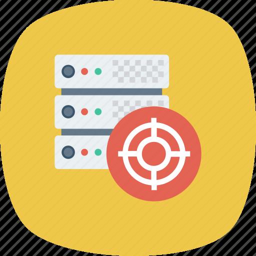 Configuration, database, hosting, server, settings, setup, target icon - Download on Iconfinder