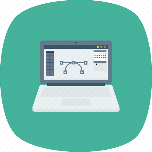 cpu, design, laptop, software, tablet icon