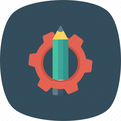 Customize, edit, gear, notes, pencil, settings, text icon - Download on Iconfinder
